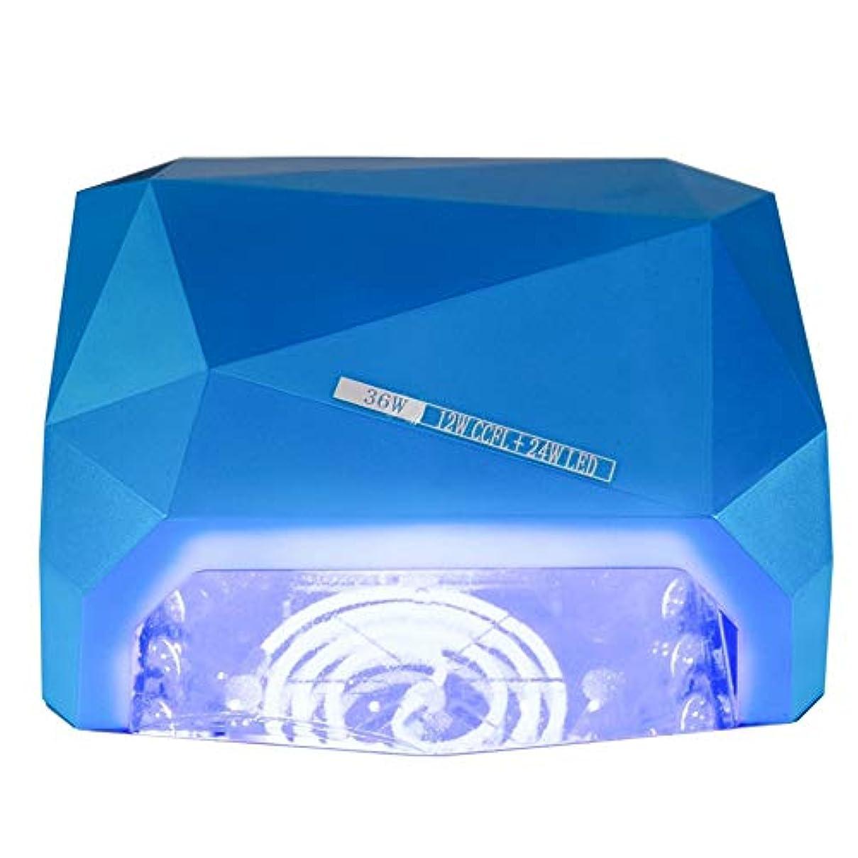 決めます真実改修するUVネイルランプ、36Wダイヤモンド光線療法ライトUV LEDネイルロースターネイル光線療法機全自動LEDネイルドライヤーランプ