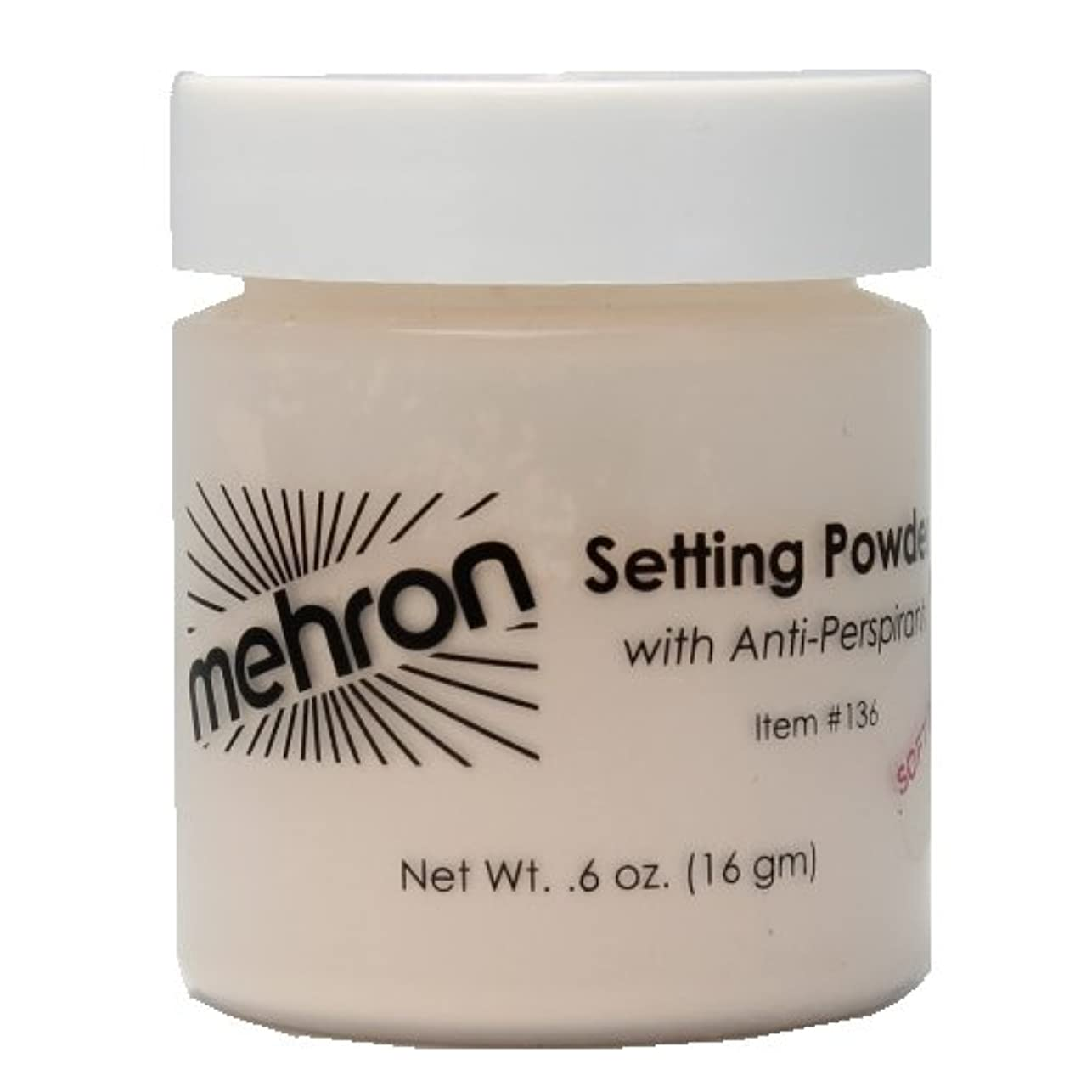 農奴操る増幅(6 Pack) mehron UltraFine Setting Powder with Anti-Perspriant - Soft Beige (並行輸入品)