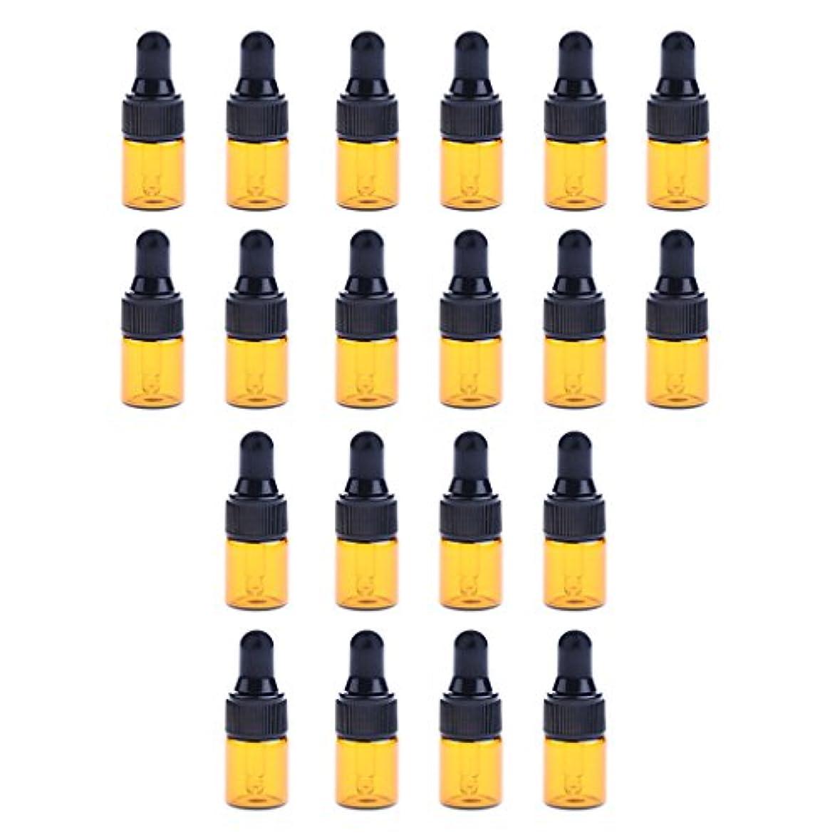撤回する急速なアスレチックdailymall 全3サイズ スポイトボトル ガラスボトル 詰替え 香水 オイル 化粧品 コスメ用 遮光ビン 約20個 - 1ML