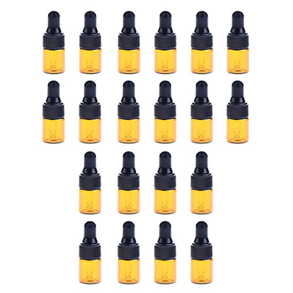 おかしい道徳の終了しましたdailymall 全3サイズ スポイトボトル ガラスボトル 詰替え 香水 オイル 化粧品 コスメ用 遮光ビン 約20個 - 1ML