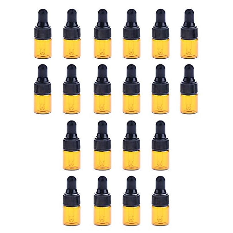 dailymall 全3サイズ スポイトボトル ガラスボトル 詰替え 香水 オイル 化粧品 コスメ用 遮光ビン 約20個 - 1ML