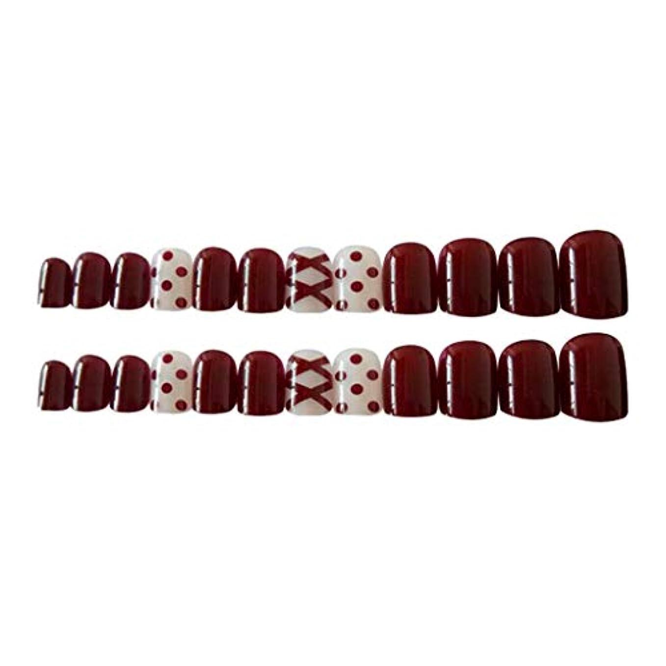 独裁者デンプシー重くするネイルチップ ロング フルカバープレス フルチップ グラデーション 全7種選択でき - ミックス