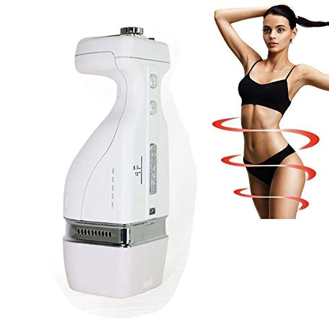 ラショナルアセンブリコンテンツHIFU痩身ボディ腹脂肪除去マッサージャー2 in1便利な減量脂肪マシン家庭用フェイシャルビューティーサロン機器