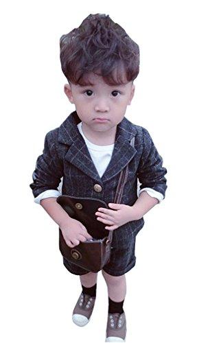 Cuteswer 子供スーツ 子供服 フォーマル 男の子 女の子 フォーマルスーツ チェック柄 90cm