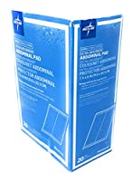 Medline Abdominal (ABD) Sterile 8x7.5 Pads - Box of 20 Pads by Medline