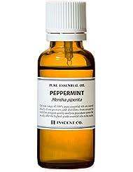 ペパーミント 30ml インセント アロマオイル AEAJ 表示基準適合認定精油