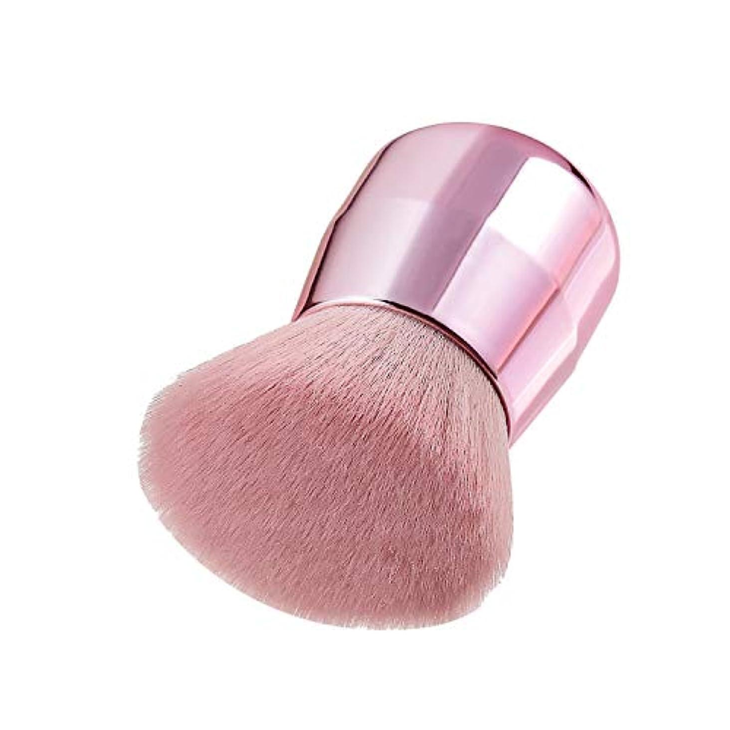 Makeup brushes ピンクのティルティングパウダーブラシポータブル著名な化粧ブラシハニーパウダーブラシブラッシュブラシ suits (Color : Rose Gold)