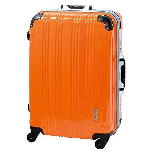 S型 オレンジ/ミラーKingdom 機内持込 スーツケース キャリーバッグ TSAロック搭載 超軽量 (1-3日用)