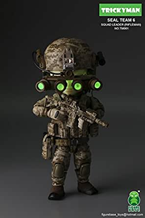 FiGUREBASE(フィギュアベース) TM001 SEALs 6 TEAM RIFLE MAN【特殊部隊 アクション フィギュア 可動フィギュアパーツ】