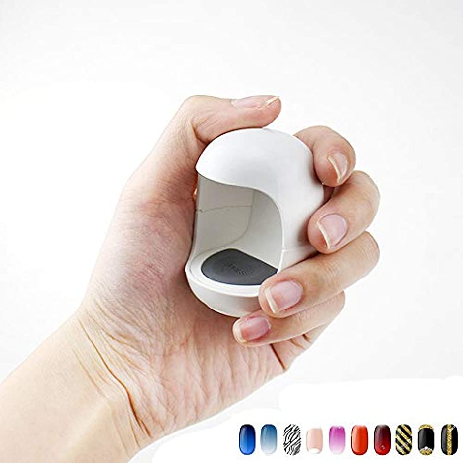 戦術状カイウスUV LEDネイルランプミニQ型USBケーブルマニキュア材料ネイルドライヤーゲルランプ治療光シングルマニキュアマニキュアツール