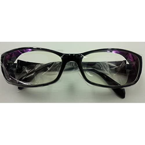 【G's MAUMU】プロテクト 万能 メガネ ケース メガネ拭き セット / 花粉カット 粉塵防止 UVカット ブルーライトカット (ブラック)