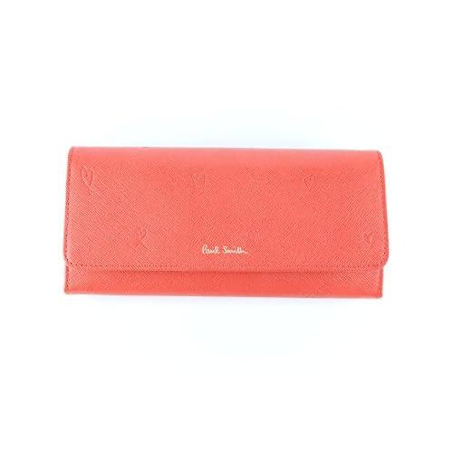 ポールスミス 財布 レディース かぶせ長財布 スミシーハート PWU805 コーラル pauls511