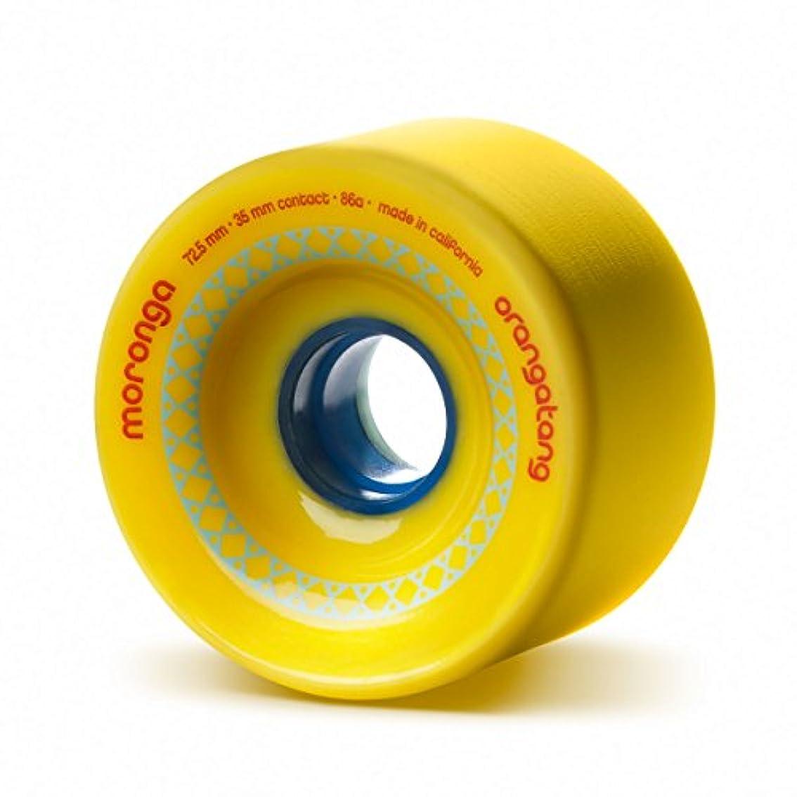 凍結楽しませる財団ORANGATANG Longboard Wheels MORONGA 72.5mm 86a YELLOW by Orangatang