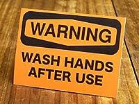 サイン&ラベルステッカー SIGNS & LABELS series 「警告、使用後は手を洗いなさい」_SC-MD024-SXW