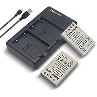 Newmowa EN-EL5 互換バッテリー 2個 + 充電器 対応機種 Nikon EN-EL5, Nikon Coolpix P530, P520, P510, P100, P500, P5100, P5000, P6000, P90, P80