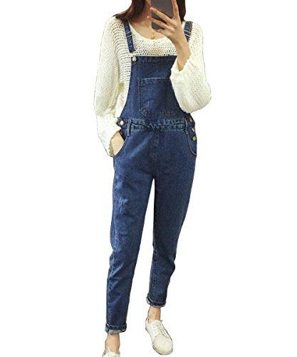 [해외]Blue-D (블루 디) 데님 바지 허리 느긋 슬림 모양 여성 뽀빠이/Blue-D (Blue Dee) Denim Overalls West Loose Slim Shape Women`s Salopette