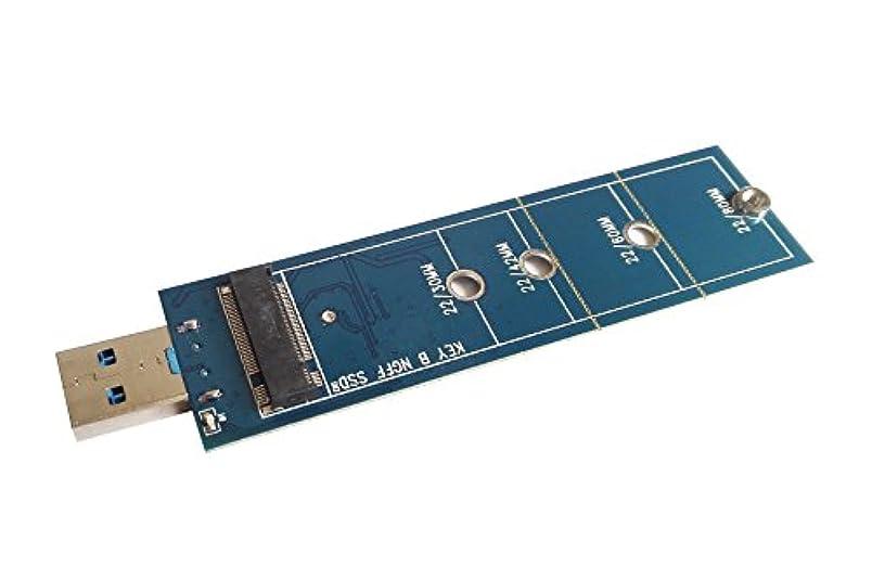 お客様調停者ポールM.2 NGFF 2230 2242 2260 2280 SATA SSD → USB3.0 変換アダプター