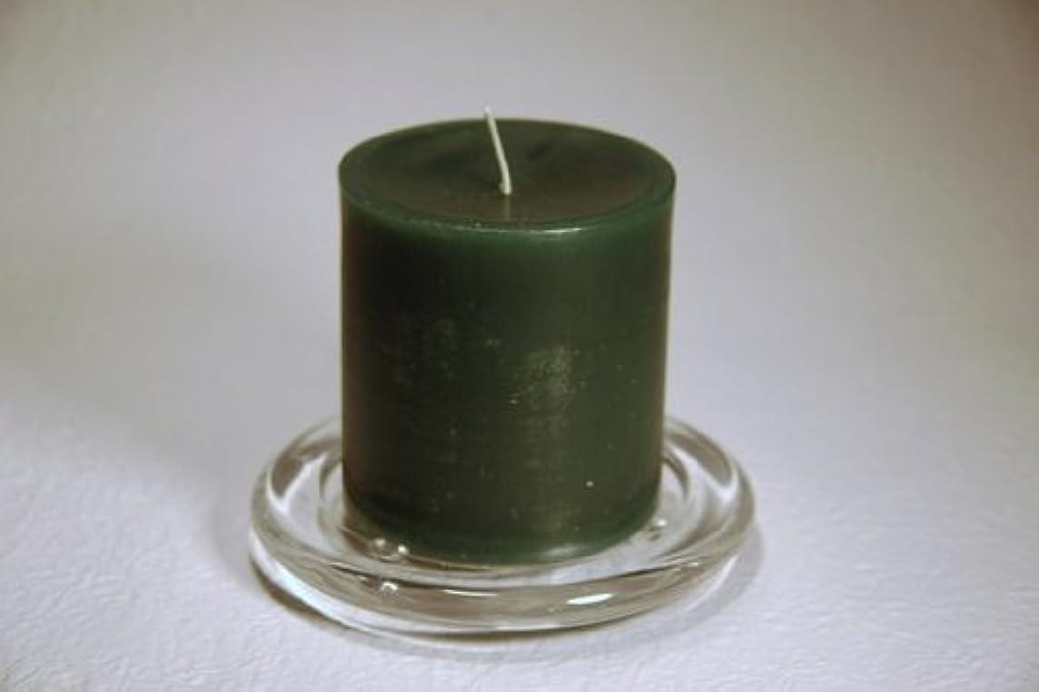 石鹸わずかな製油所ペガサスキャンドル 2?3/4×3ラウンド フォレストグリーン