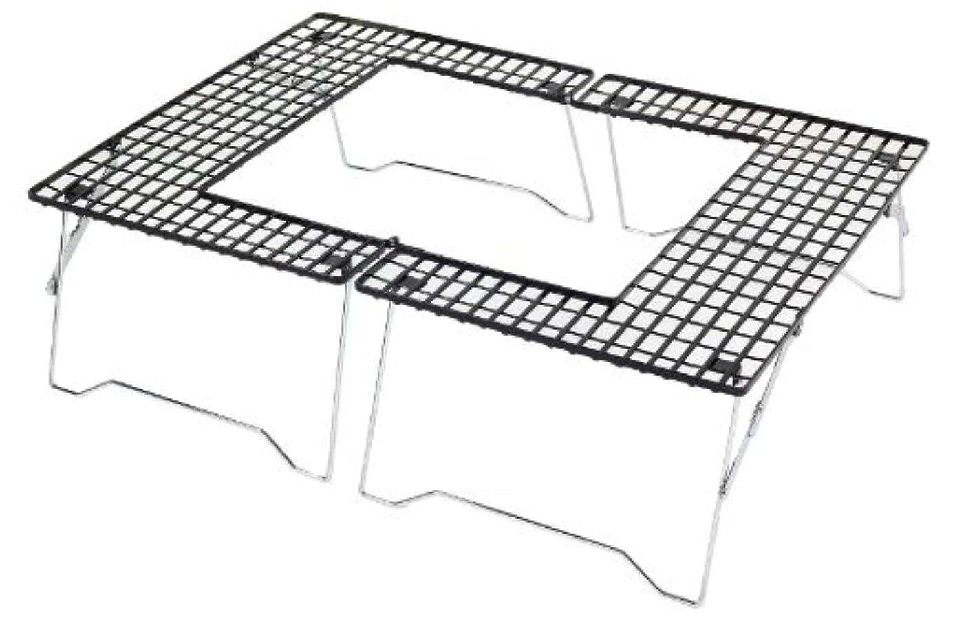 結論ロータリー溶かすキャプテンスタッグ(CAPTAIN STAG) バーベキュー用 焚火台 ファイアグリル コンロ 机 テーブル M-6420M-6420