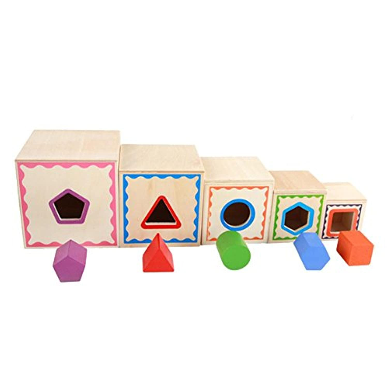 Domybest パズル 子供おもちゃ 木製パズル 木のおもちゃ 知育玩具 木製 玩具 幾何学模様 カラフル 3歳以上 視覚刺激 お祝い 記念日 誕生日 ギフト
