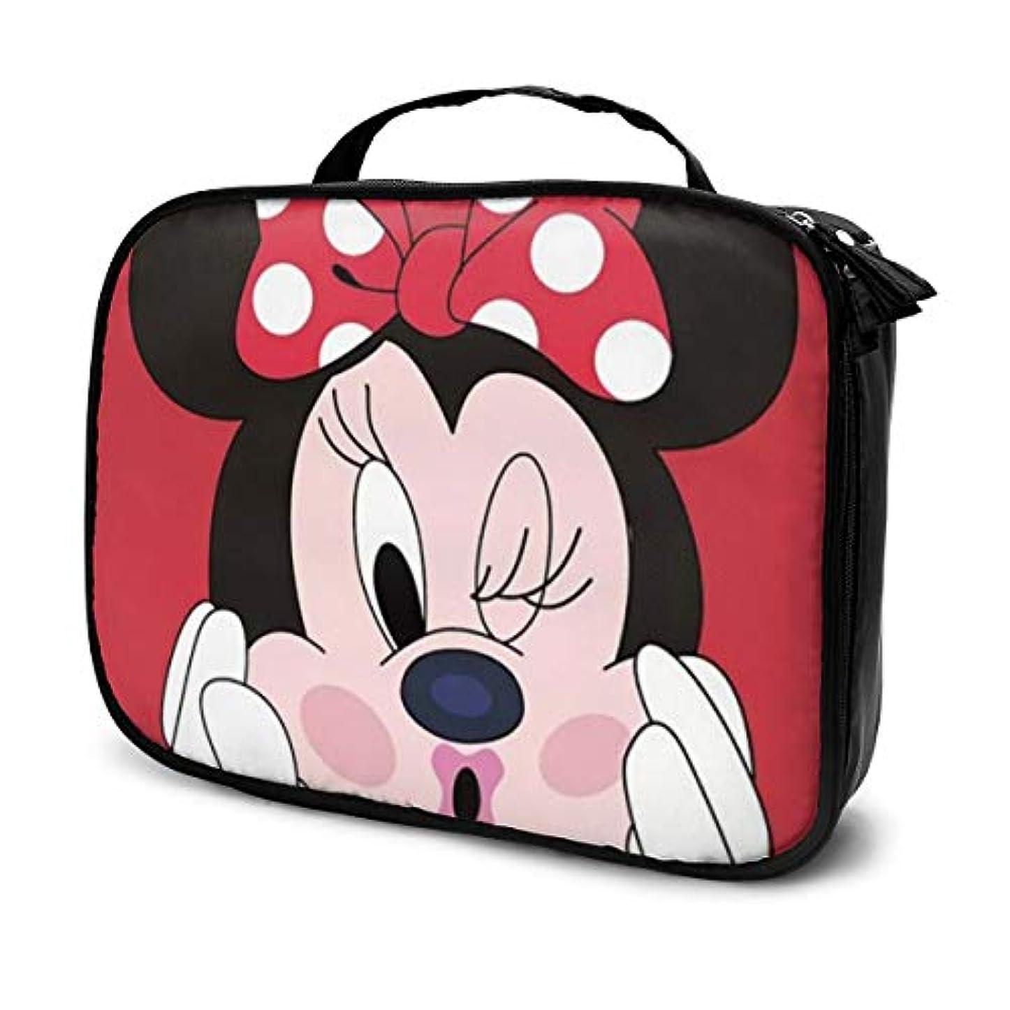 かけるワイドシアーDaituラッキーミニー 化粧品袋の女性旅行バッグ収納大容量防水アクセサリー旅行