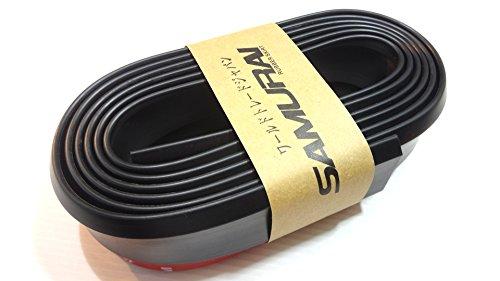 リップスポイラー マルチ スポイラー フロント バンパー ディフレクター カナード 汎用 多車種 に 適合 (ブラック R)