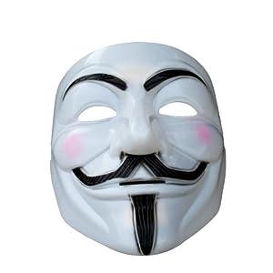 Vフォー・ヴェンデッタ 仮面マスク コスチューム用小物 20x16cm