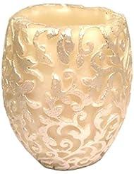 スワールリーフ Vase (Ivory×Silver/ジャスミン&ミント)