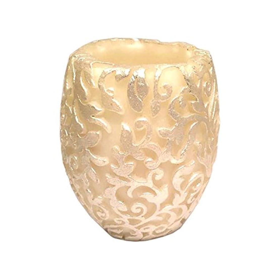 叫ぶ矢印買うスワールリーフ Vase (Ivory×Silver/ジャスミン&ミント)