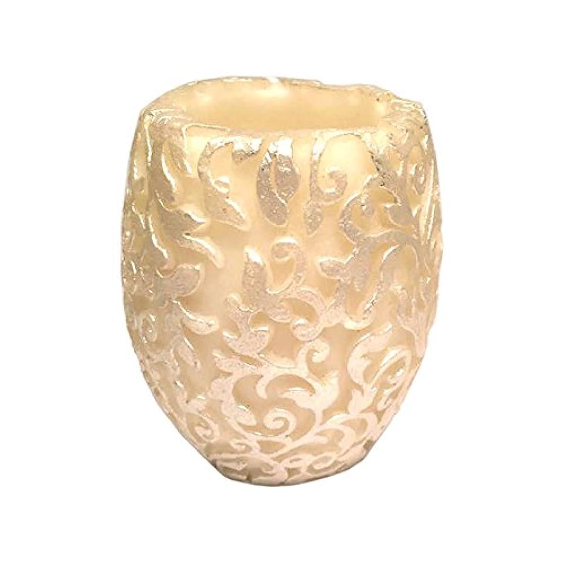 テープ略奪細心のスワールリーフ Vase (Ivory×Silver/ジャスミン&ミント)