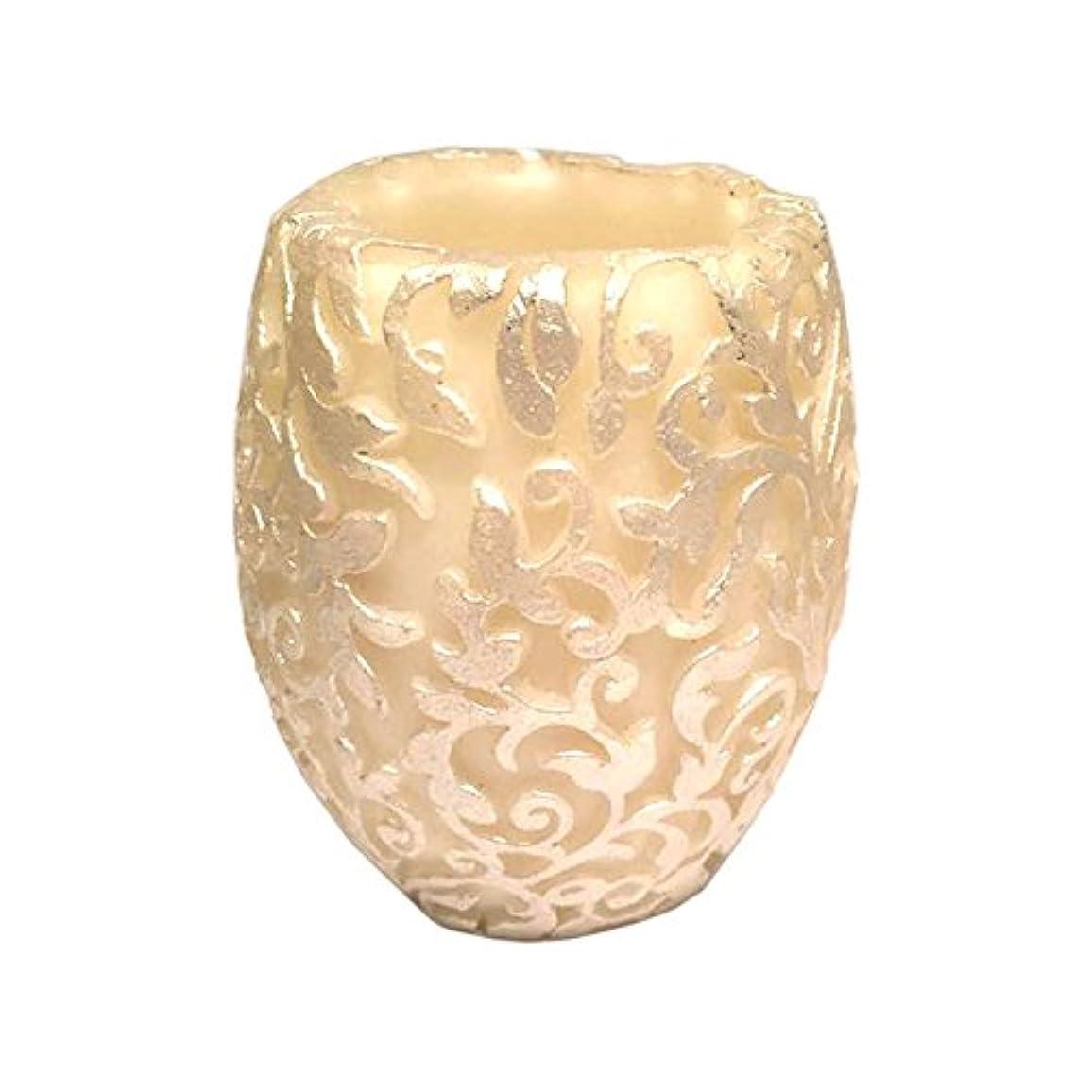 年齢主要なボーナススワールリーフ Vase (Ivory×Silver/ジャスミン&ミント)