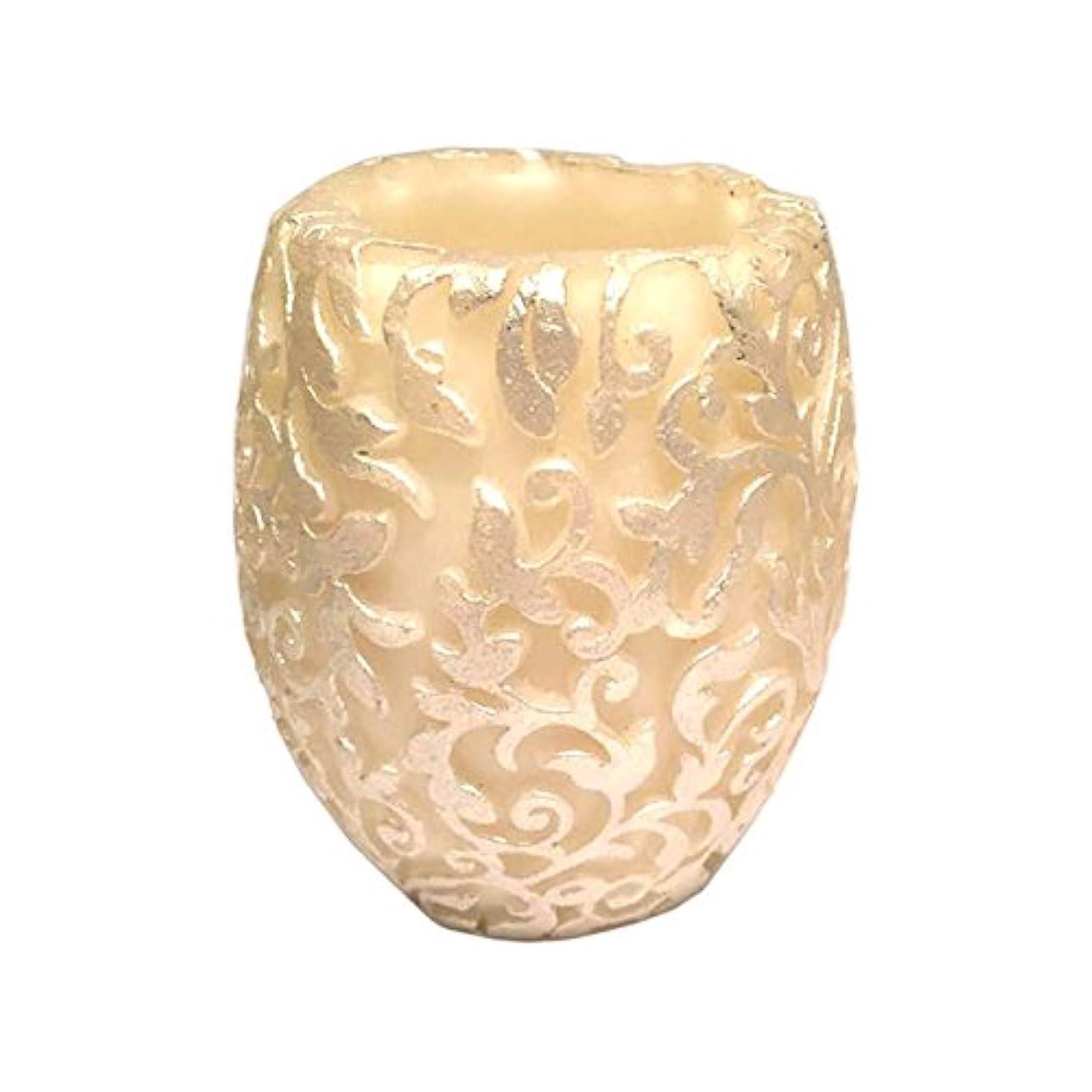 踏みつけ架空の緑スワールリーフ Vase (Ivory×Silver/ジャスミン&ミント)