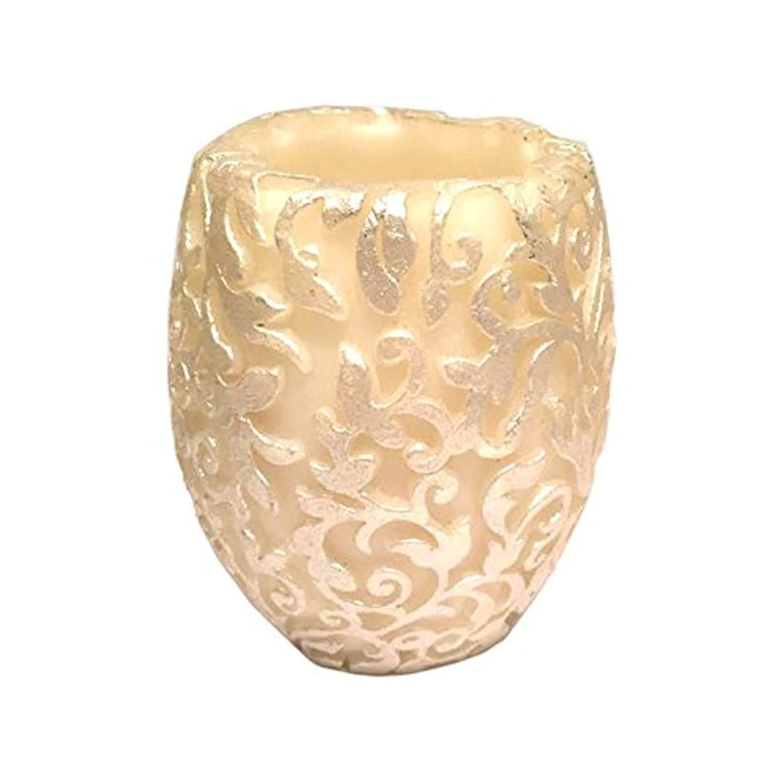 花輪牛肉脱臼するスワールリーフ Vase (Ivory×Silver/ジャスミン&ミント)