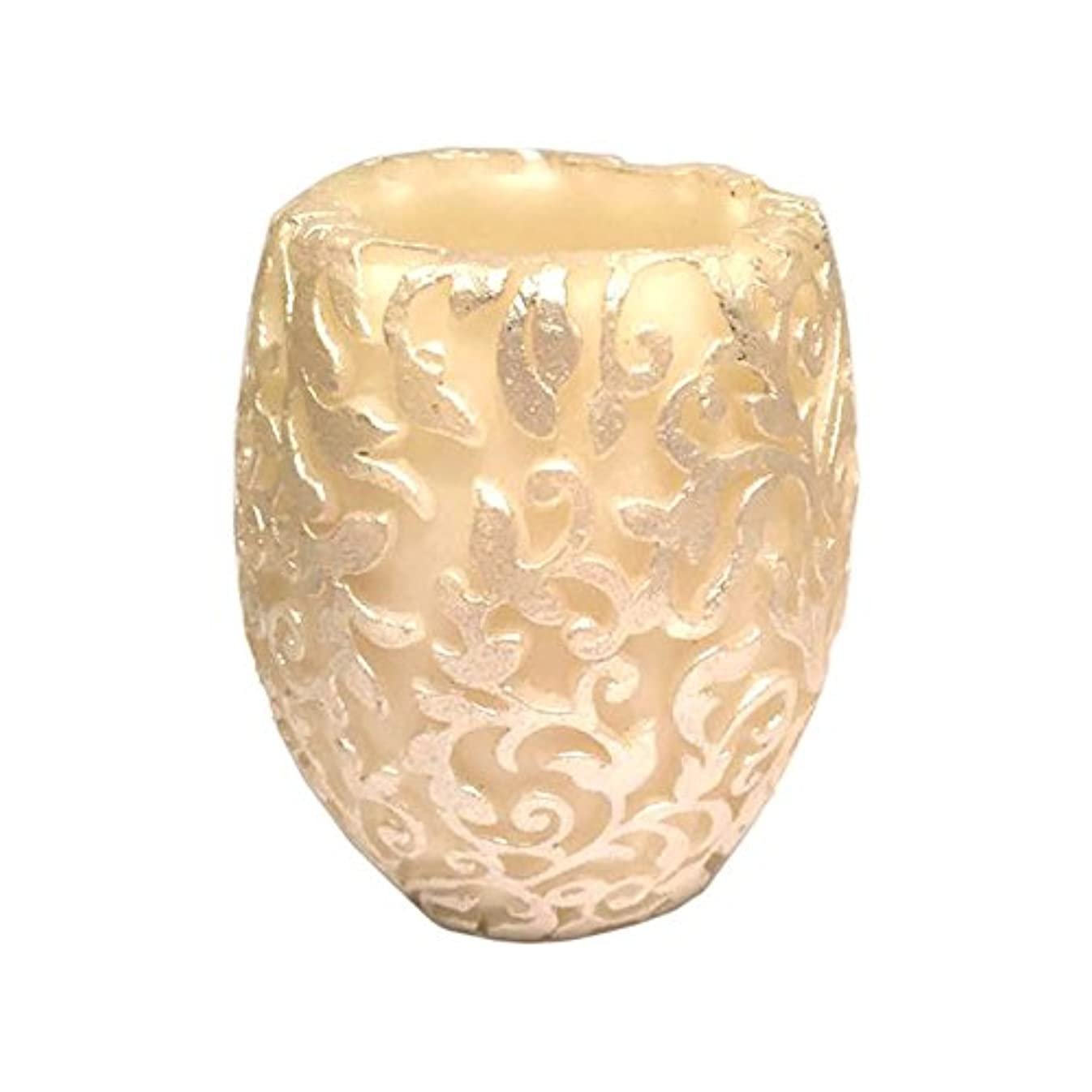 大量東ティモールスマートスワールリーフ Vase (Ivory×Silver/ジャスミン&ミント)