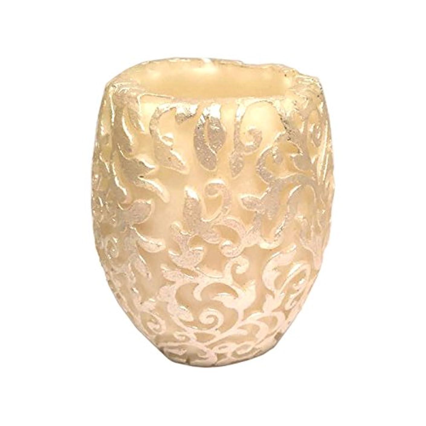 める成人期地上のスワールリーフ Vase (Ivory×Silver/ジャスミン&ミント)