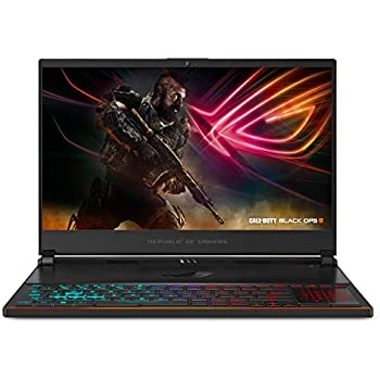 ASUS ROG Zephyrus S Ultra Slim Gaming PC Laptop, 15.6 144Hz IPS Type, Intel Core i7-8750H CPU, GeForce GTX 1070, 16GB DDR4, 512GB PCIe SSD, Military-Grade Metal Chassis, Win 10 Home - GX531GS-AH76