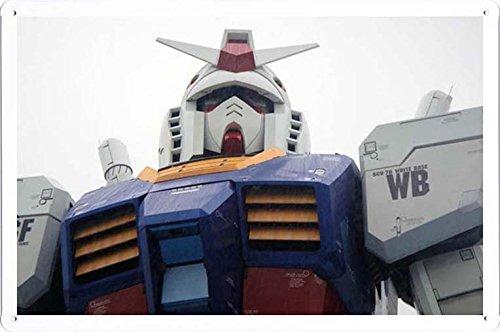 お台場の東京ジャパン機動戦士ガンダムのティンサイン 金属看板 ポスター / Tin Sign Metal Poster of Gundam Odaiba Tokyo Japan