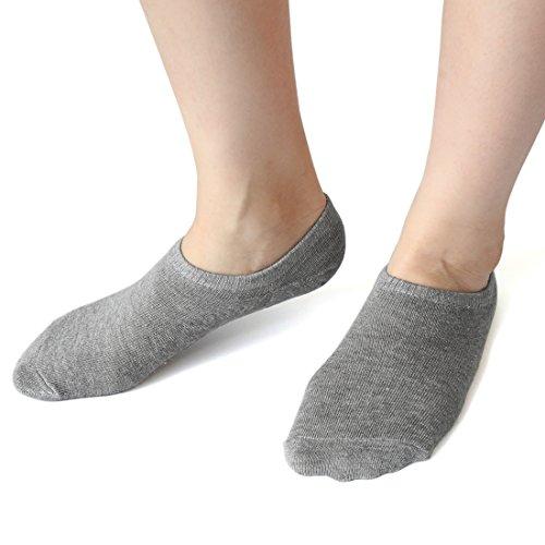 uxcell シリコーン靴下 ジェルボートソックス レディー ローファーソックス...