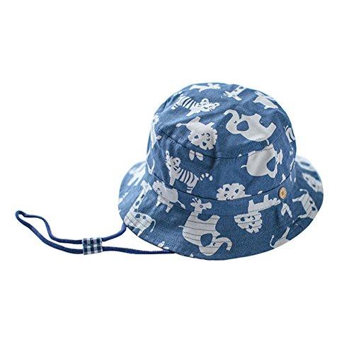(よキーよ)Yokeeyoベビー用ハット つば広 赤ちゃんキャップ サファリハット キッズ 帽子 子供サンバイザー フィッシャーマンハットドット 動物柄 女の子 男の子 男女児 紫外線 UVカット 日よけ 日焼け止め