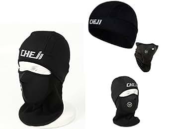 【S4R】 耳までカバー サイクルウォームキャップ 秋冬用 フェイスマスク付き