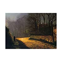 Painting Atkinson Grimshaw The Lovers Picture Wall Art Print ペインティング愛画像壁