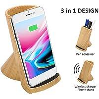 ワイヤレス充電器 高速急速 Qi充電器 携帯電話 多機能 3-in-1充電器 収納 ペンホルダー Samsung S9 NOTE8 Iphone 8 IphoneX 対応