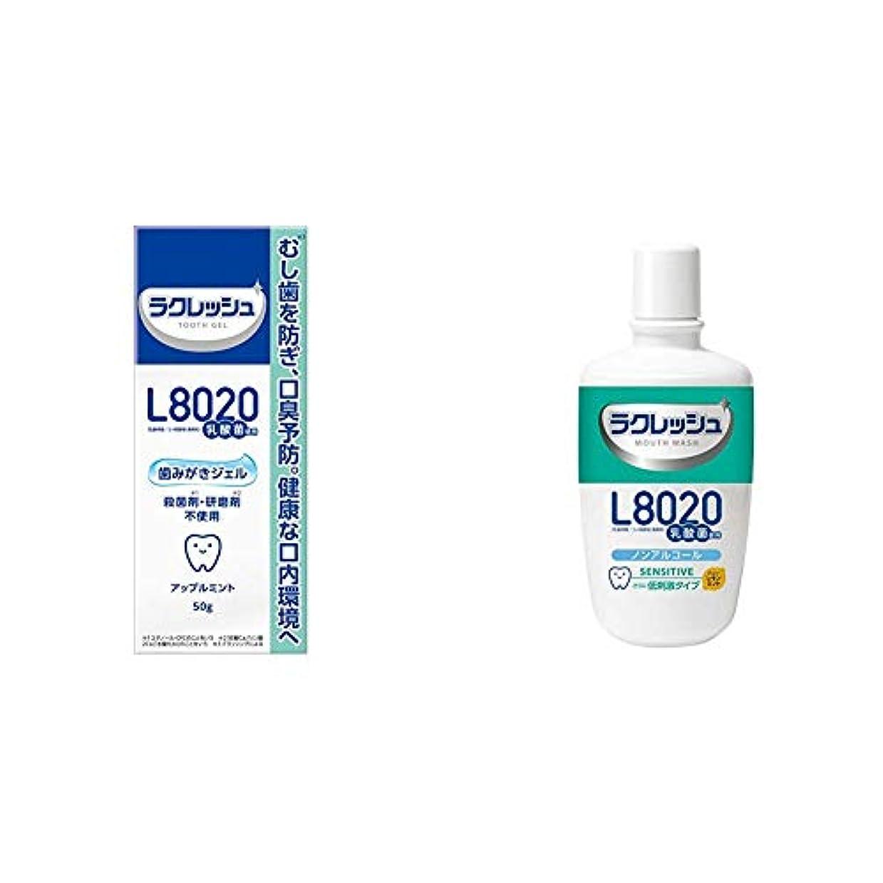 奨励部分適用済みジェクス L8020 ラクレッシュ 歯みがきジェル 50g & L8020乳酸菌 ラクレッシュ センシティブ 洗口液 300mL