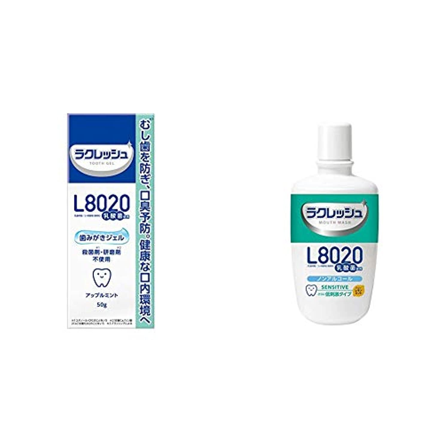 フェッチ取り組むオリエンテーションジェクス L8020 ラクレッシュ 歯みがきジェル 50g & L8020乳酸菌 ラクレッシュ センシティブ 洗口液 300mL