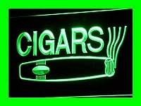 LED看板 ネオンプレート サイン 電飾・店舗看板・標識・サイン カフェ バー ADV PRO i073-g OPEN Cigars Cigarette Bar Displays Light Signs