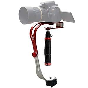 DUB STACK(ダブスタック) モーションスタビライザー DCS235-RD 取付可能カメラ重量: 230~950g 手ブレを軽減するカメラスタビライザー 【簡単セットアップで安定した動画撮影が可能な入門モデル】 コンパクトデジタルカメラ ミラーレス一眼カメラ向き