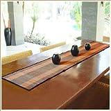 【アジア工房】バナナリーフのカラフルなテーブルランナー[オレンジ/10051] [並行輸入品]
