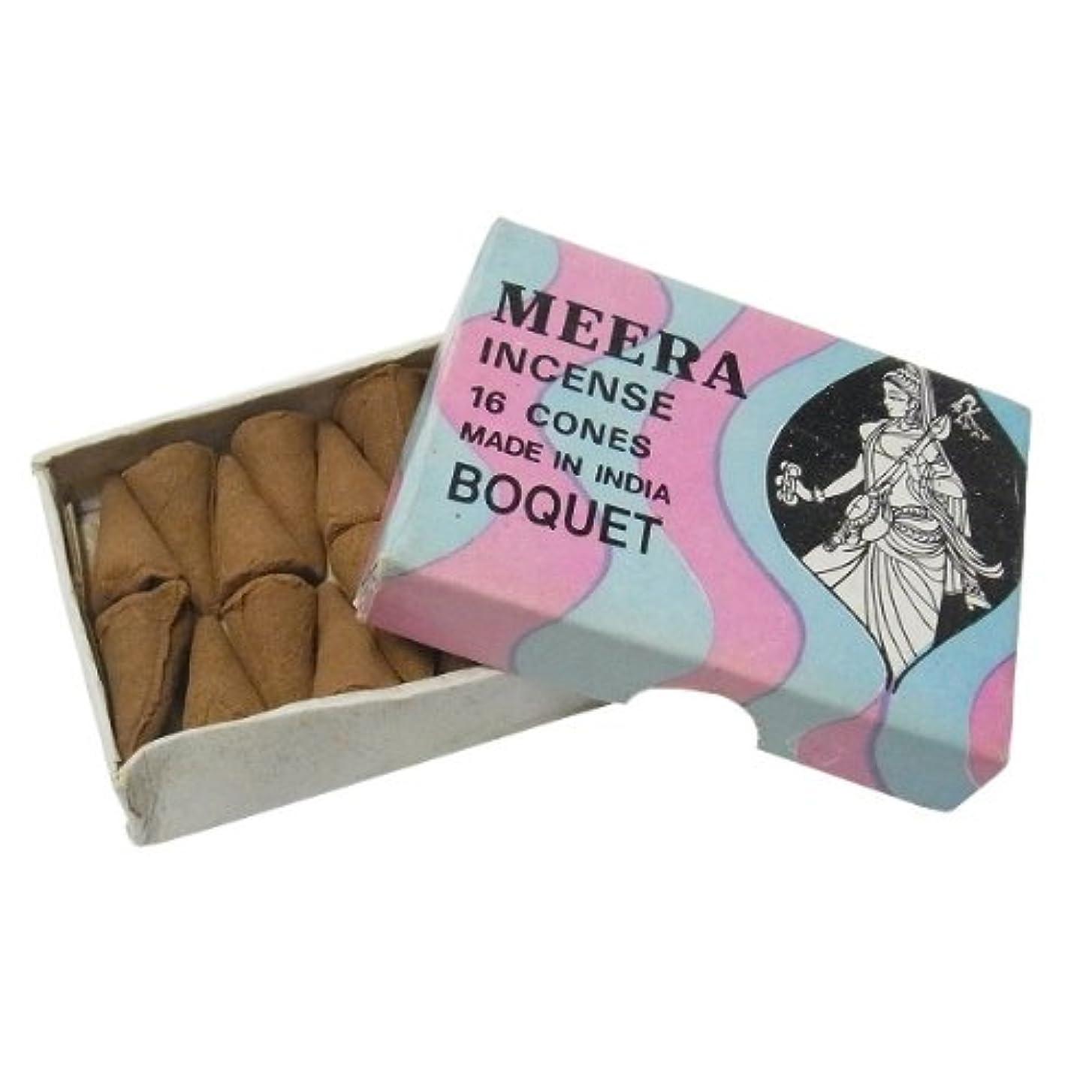 蜂破壊的なコンクリートブーケのお香(MEERA) コーン型お香 インド香