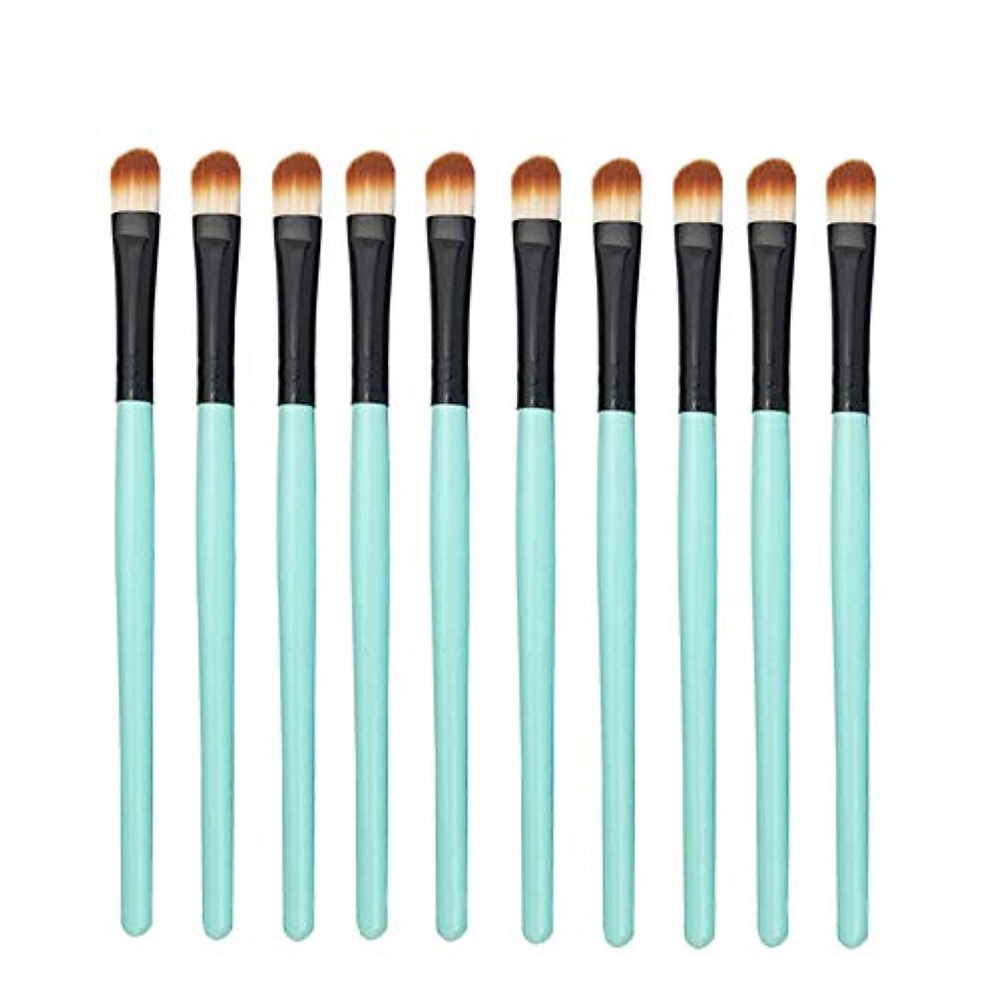 今晩連想群集Makeup brushes 10メイクブラシアイスマッジセットリップブラシアイシャドウハイツアンクラウドコンビニエンスツール-ブルー suits (Color : Green Black)