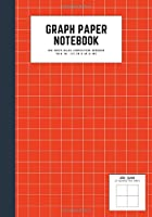 graph paper notebook: 7x10 cute graph paper journal | cool graph paper notebook college ruled | 2 quad ruled, 108 pages | 2x2 graph ruled composition notebook | red orange color white line